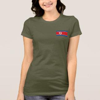 North Korea Flag and Map dk T-Shirt