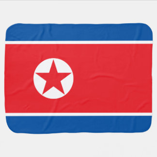 North Korea Flag Baby Blanket