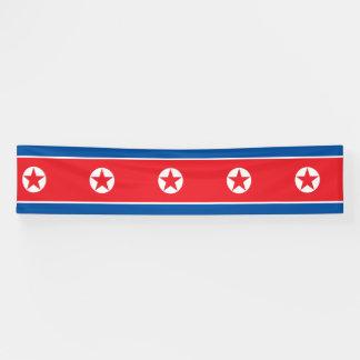 North Korea Flag Banner