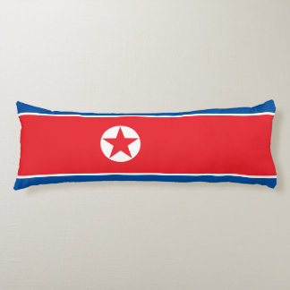 North Korea Flag Body Pillow