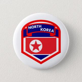 North Korea Flag Crest 2 Inch Round Button
