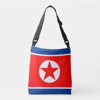 North Korea Flag Crossbody Bag