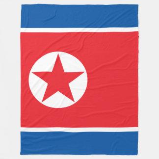 North Korea Flag Fleece Blanket