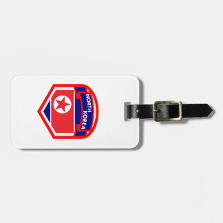 North Korea Flag Luggage Tag