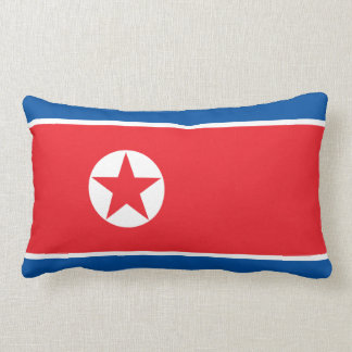North Korea Flag Lumbar Pillow