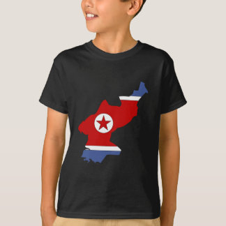 North Korea Flag Map full size T-Shirt