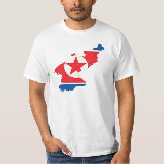 North Korea flag map T-Shirt