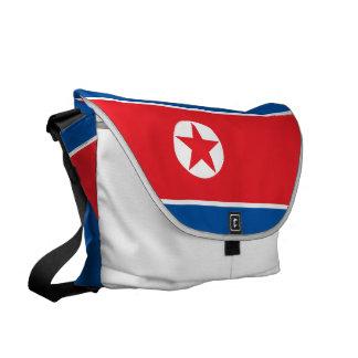 North Korea Flag Messenger Bag