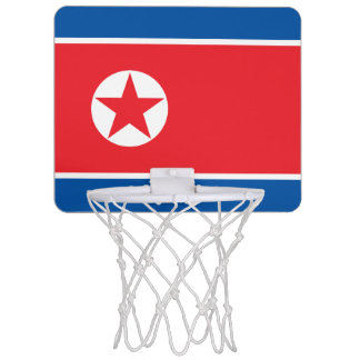 North Korea Flag Mini Basketball Hoop
