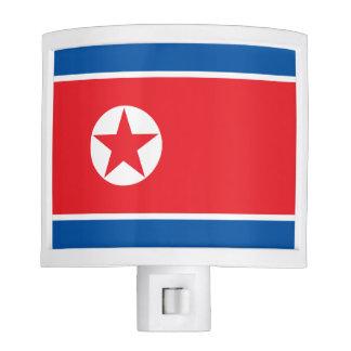 North Korea Flag Nite Lights
