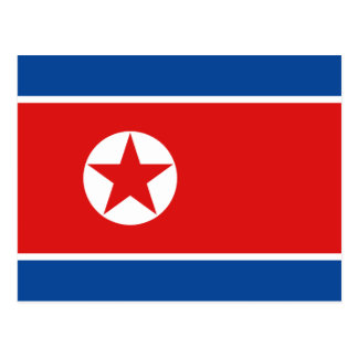 North Korea Flag Postcard