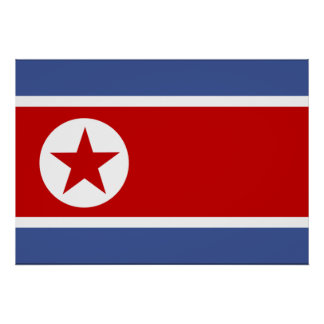 North Korea Flag Poster