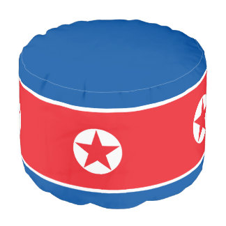 North Korea Flag Pouf