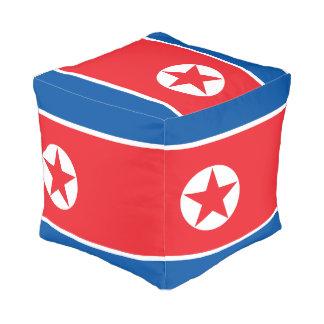 North Korea Flag Pouf