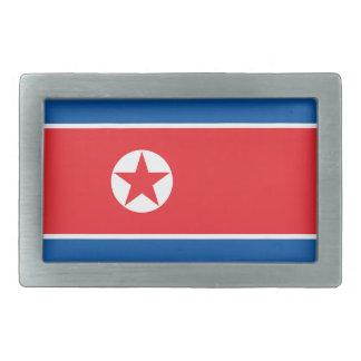 North Korea Flag Rectangular Belt Buckle