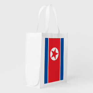 North Korea Flag Reusable Grocery Bag