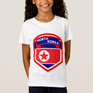 North Korea Flag Shield T-Shirt