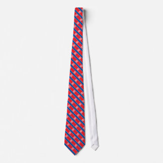 North Korea Flag Tie