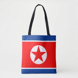 North Korea Flag Tote Bag
