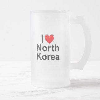 North Korea Frosted Glass Beer Mug
