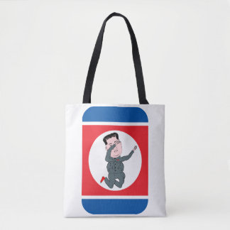 North Korea Kim Jong Un Dabbing Tote Bag