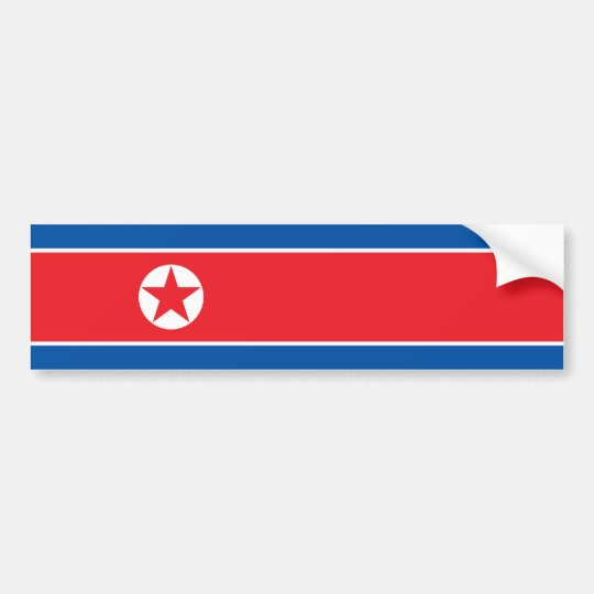 North Korea/Korean Flag Bumper Sticker
