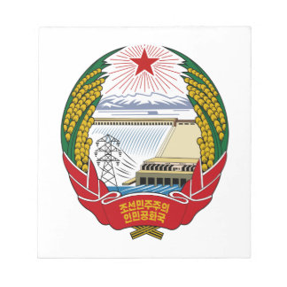North Korea National Emblem Notepad