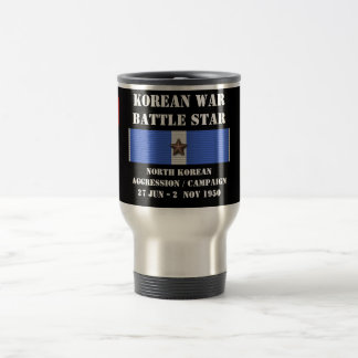North Korean Aggression Campaign Stainless Steel Travel Mug