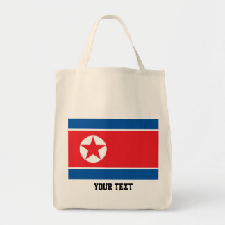 North Korean flag Tote Bag