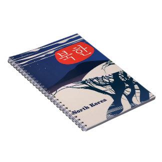 North Korean vintage travel poster Notebooks
