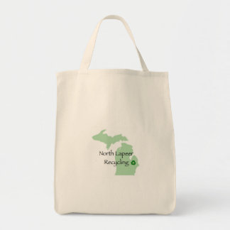 North Lapeer Recycling Tote 1 Grocery Tote Bag