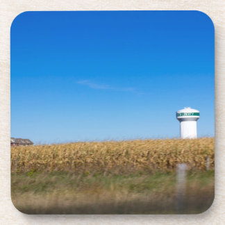 North Liberty Iowa USA Scenery with Water Tower Beverage Coasters