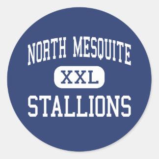 North Mesquite - Stallions - High - Mesquite Texas Classic Round Sticker