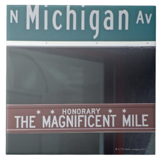 'North Michigan Avenue and The Magnificent Mile Ceramic Tile