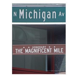 'North Michigan Avenue and The Magnificent Mile Postcard