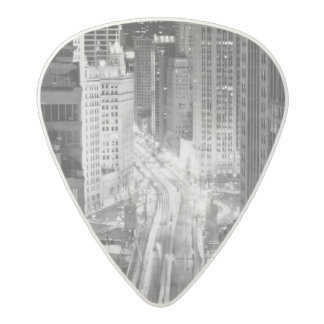 North Michigan Avenue in Chicago after winter Acetal Guitar Pick