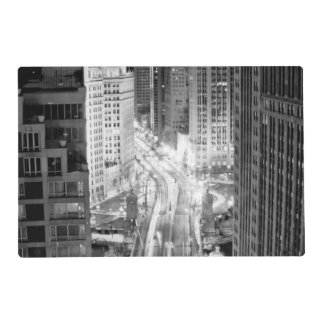 North Michigan Avenue in Chicago after winter Laminated Placemat