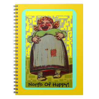 North of Happy Notebook LOL Laughing Lady Journal
