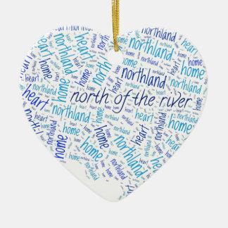 North of the River Ceramic Heart Ornament