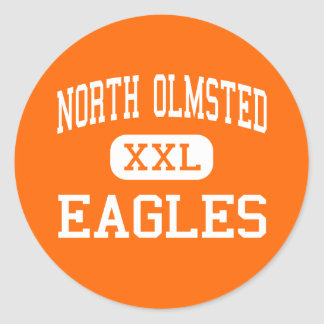 North Olmsted - Eagles - High - North Olmsted Ohio Round Sticker