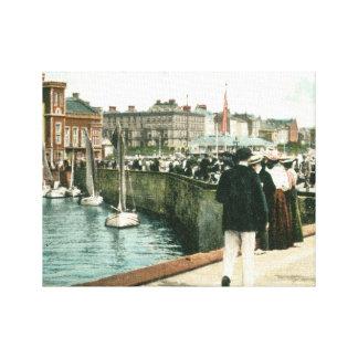 North Pier, Bridlington (1905) Canvas Print