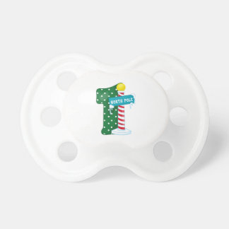North Pole 1st Birthday Pacifier