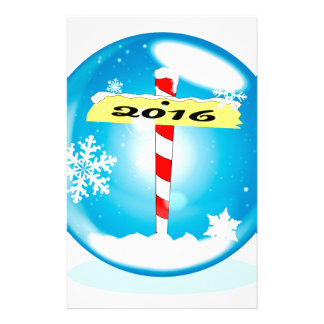 North Pole 2016 Winter Globe Stationery