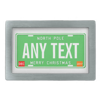 North Pole 2017 Rectangular Belt Buckles