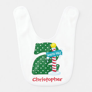 North Pole 2nd Birthday Bib