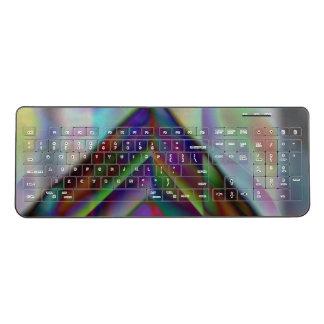 North pole Aurora Night sky Decorative pattern Wireless Keyboard