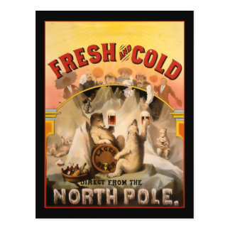 North Pole Beer Postcard