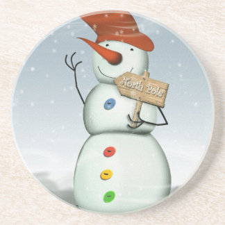 North Pole Bound Snowman Coasters