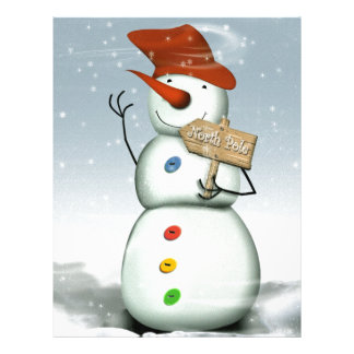 North Pole Bound Snowman Letterhead