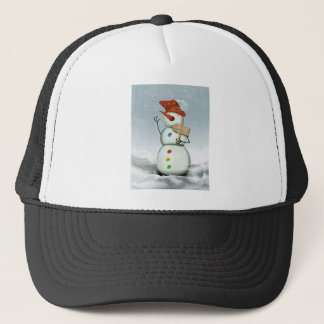 North Pole Bound Snowman Trucker Hat